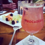 Strawberry melon margarita- enjoying the patio at Trocadero (Taken with instagram)