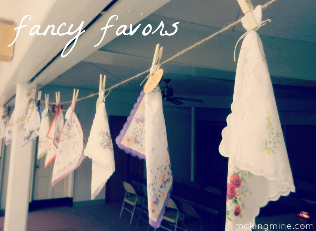 fancy favors vintage hankies