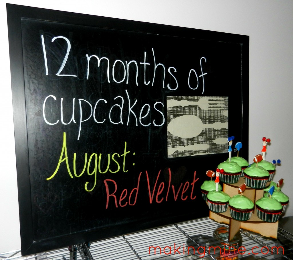 12 months of cupcakes august red velvet