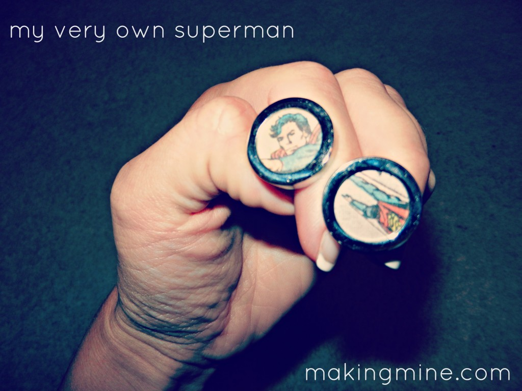 superman cufflinks for the groom