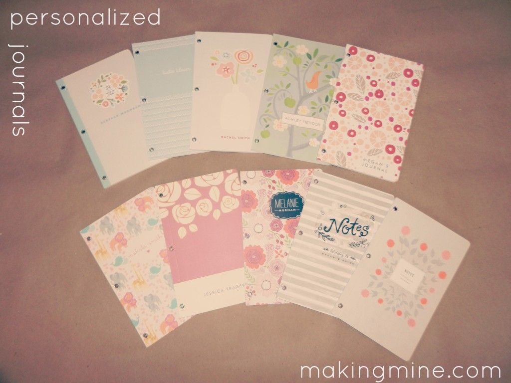personalized journals from minted.com
