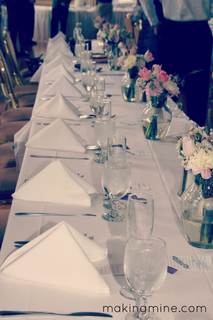 table setting with guest favors