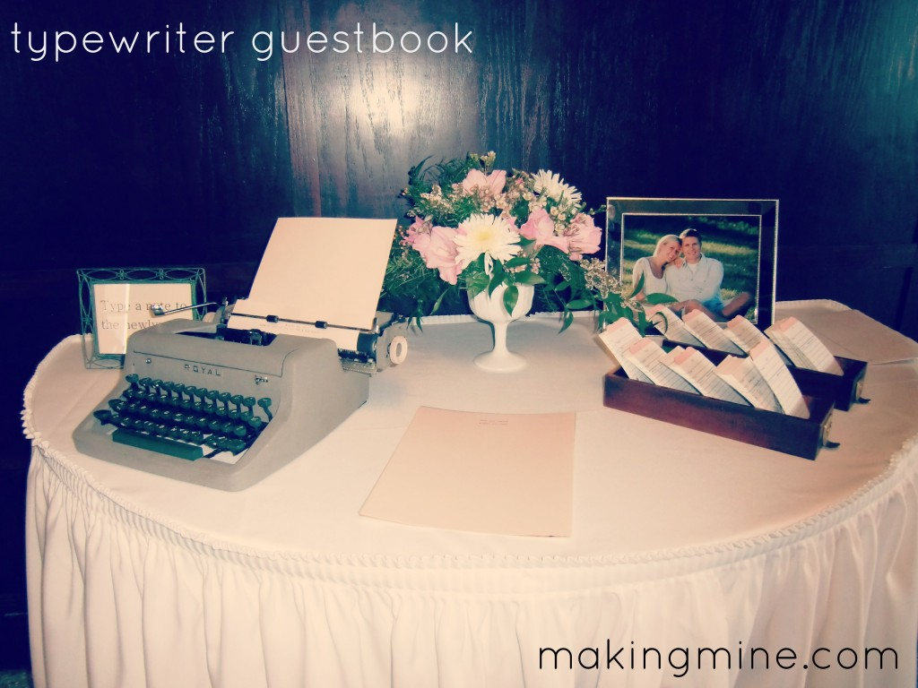 typewriter guestbook for wedding
