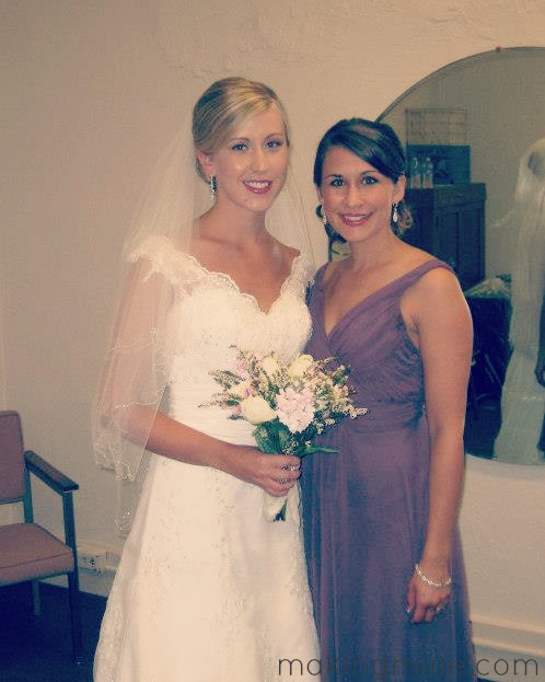bride and sister matron of honor