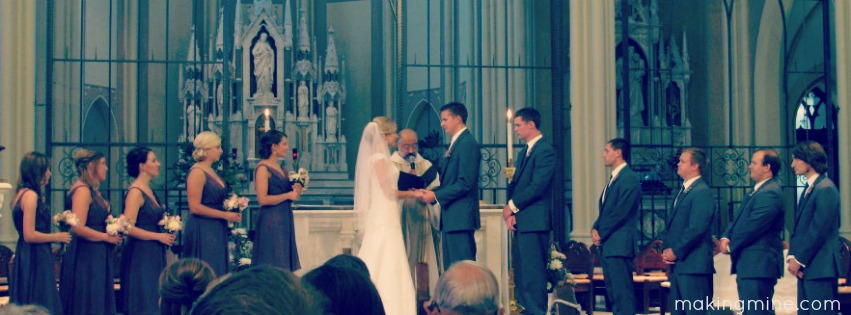 marriage at the alter of st. john's church creighton university
