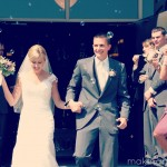 exiting the church as mr and mrs murnan