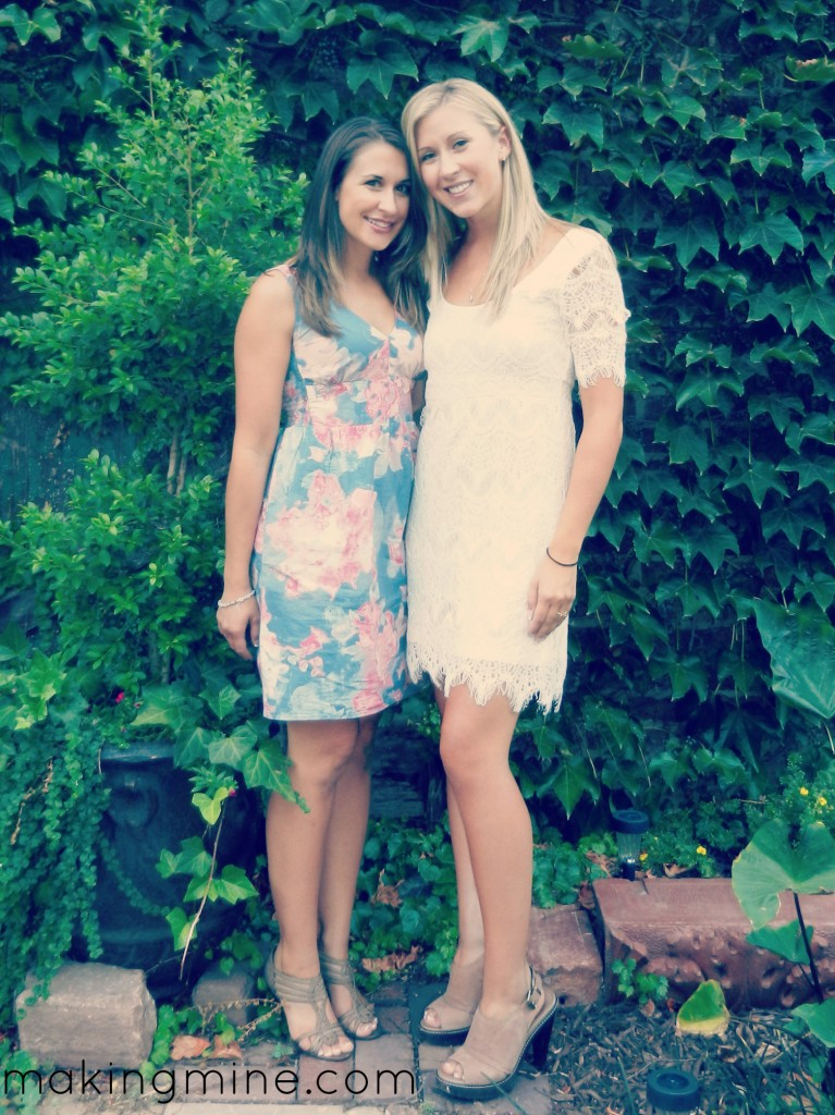 sisters at rehearsal dinner