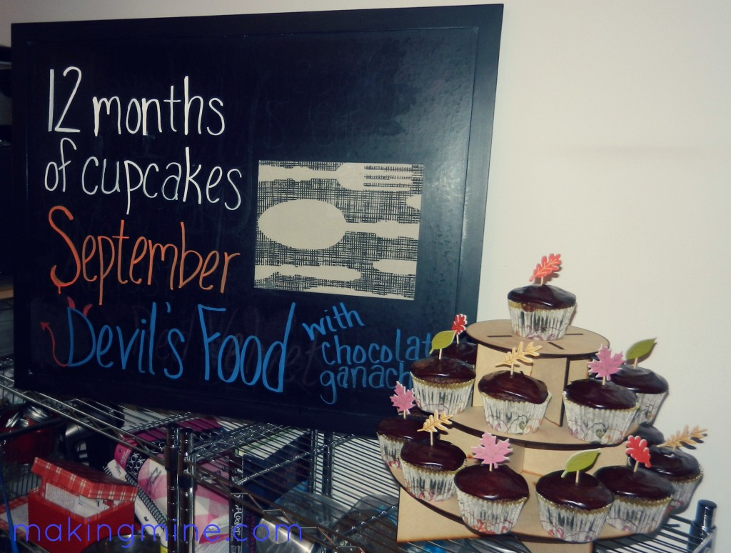12 months of cupcakes devil's food