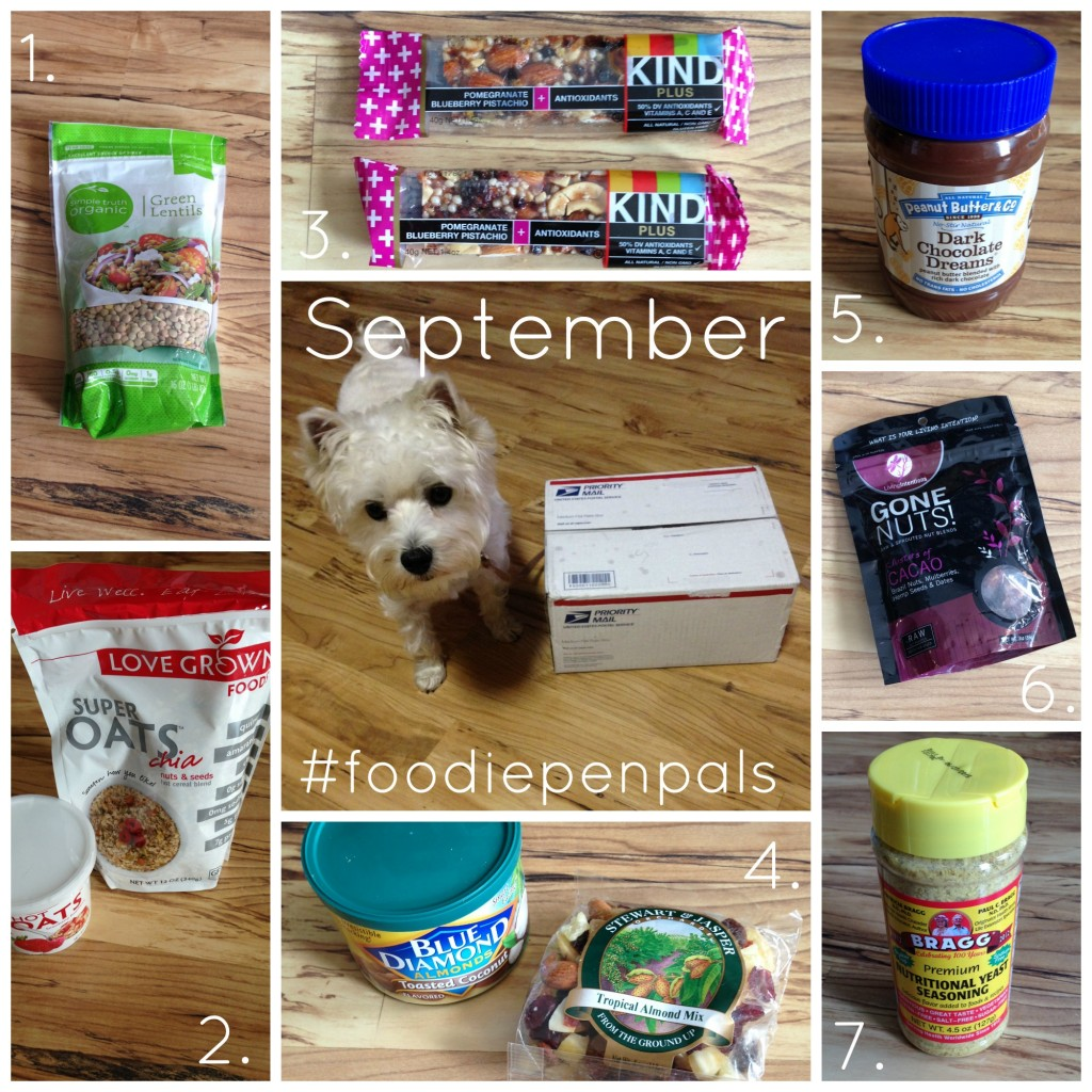 september foodie penpals