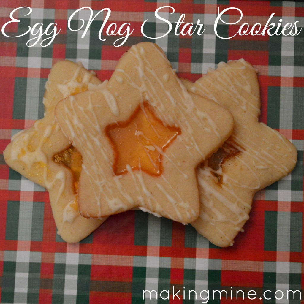 egg nog star cookies