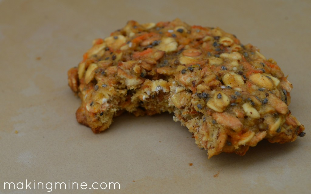 chewy oatmeal carrot cake cookies