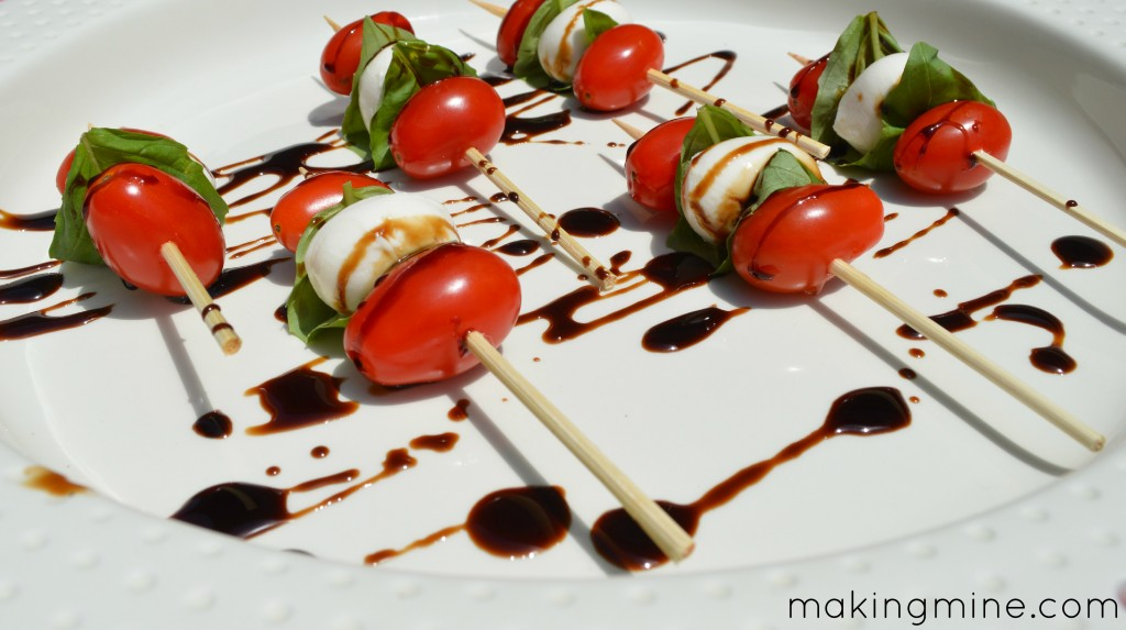 4th of july caprese skewers