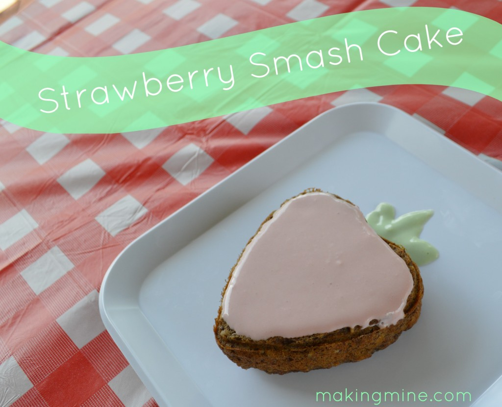 strawberry smash cake