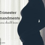 1st trimester commandments