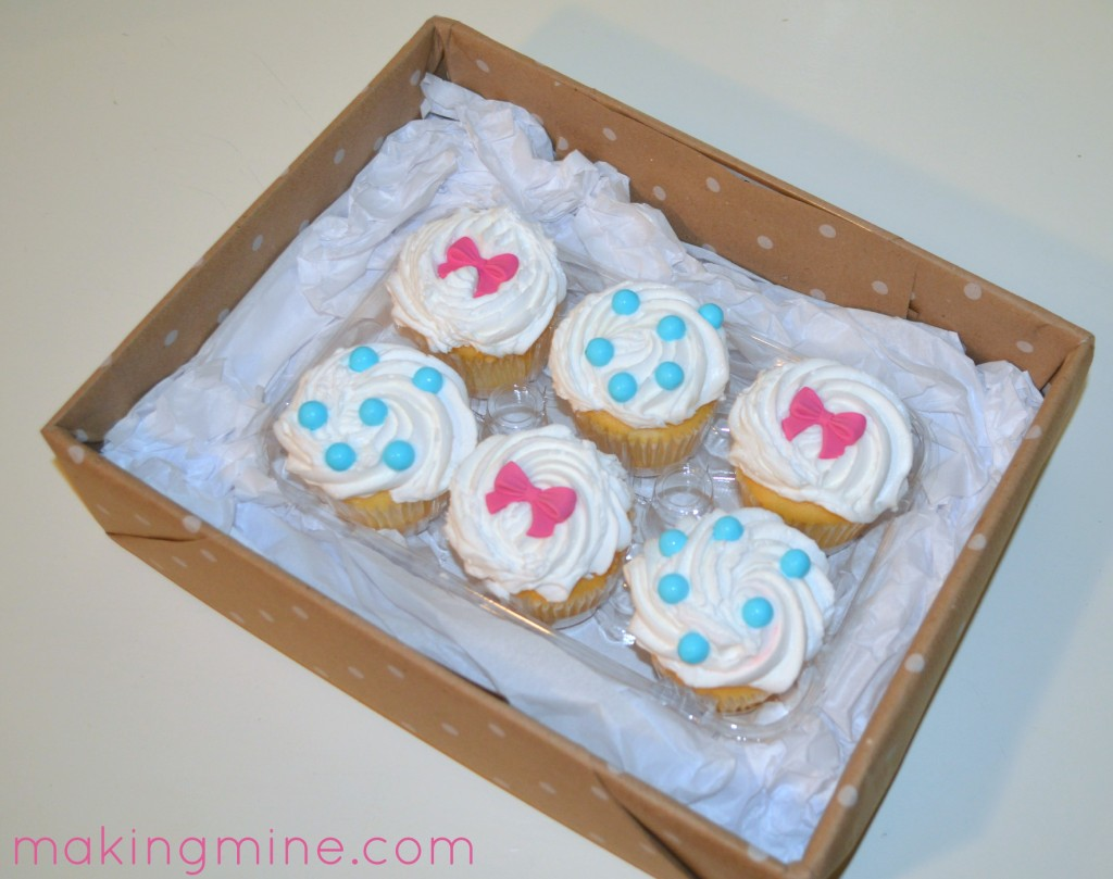 cupcake pregnancy announcement