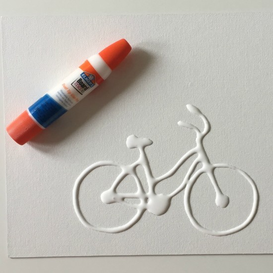 father's day bicycle paint resist craft