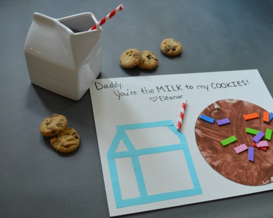 fathers day milk and cookie craft for toddlers