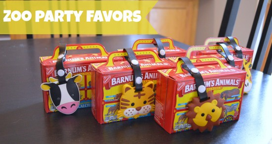 zoo birthday party favors