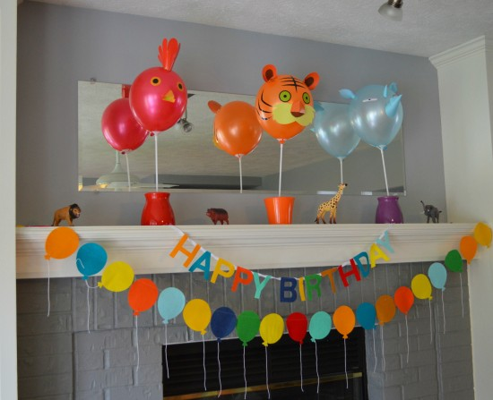 zoo birthday party decor