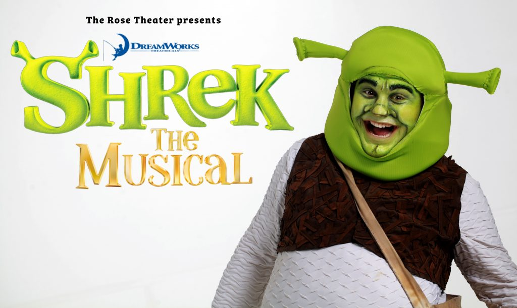 Shrek The Musical playing at The Rose Theater