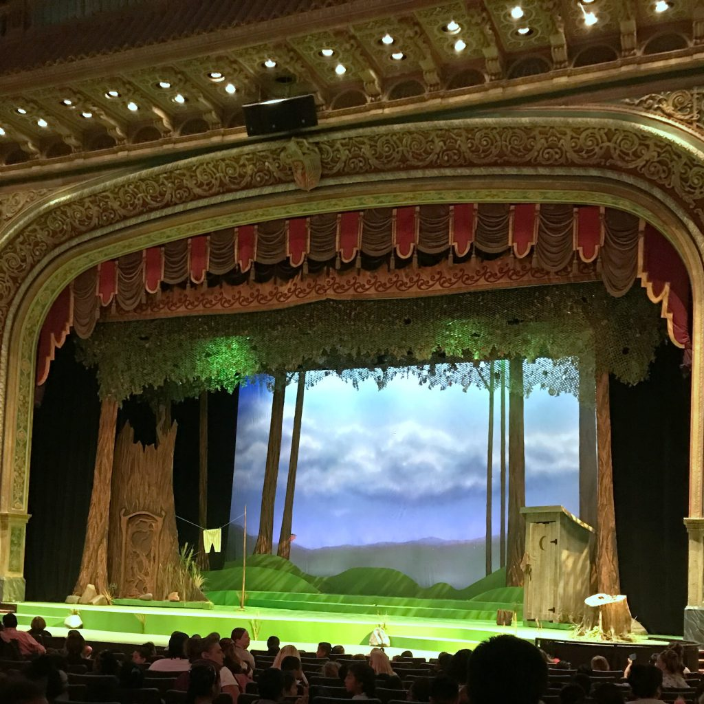 Shrek stage at The Rose Theater