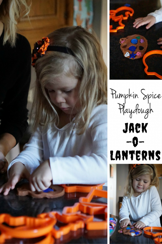 Halloween Activity: Pumpkin Spice Playdough Jack-O-Lanterns! Your preschooler can help with every step!