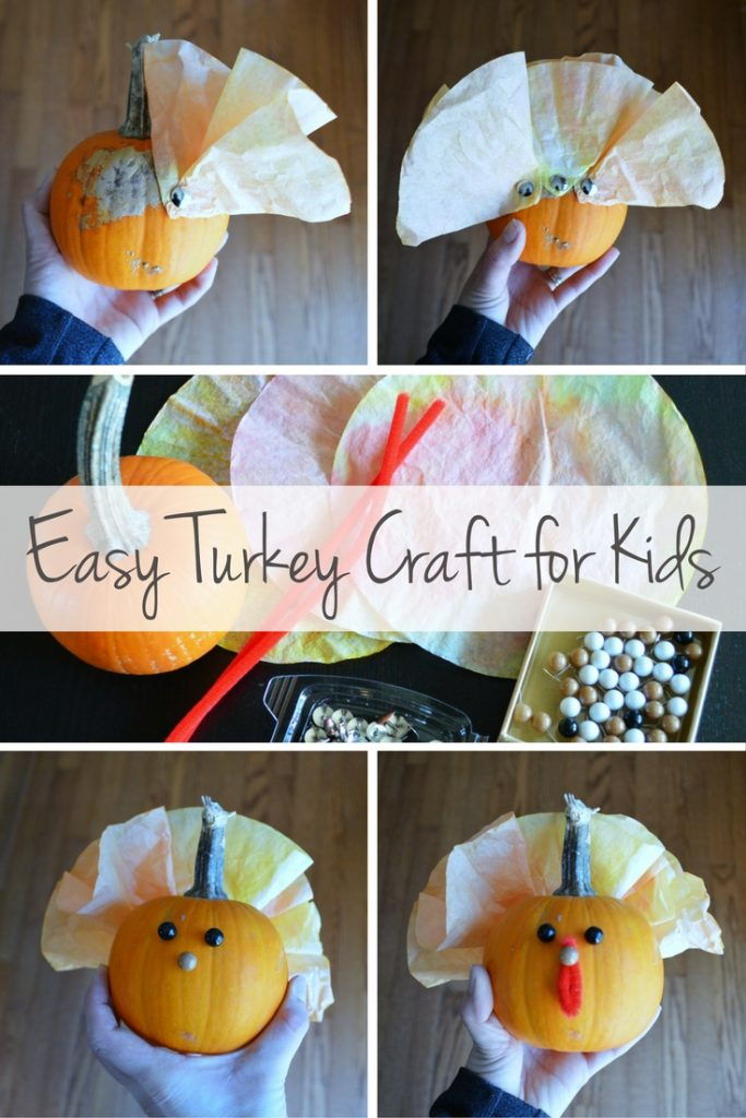 Step-by-Step Instructions for an Easy Turkey Craft to do with your Kids