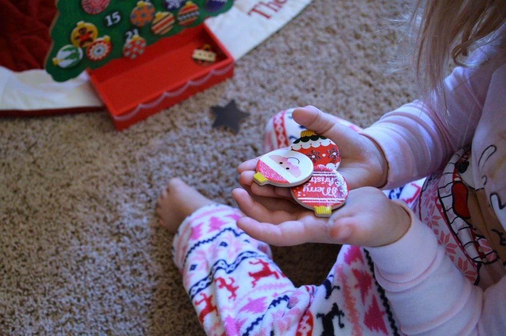 Using an advent calendar to build holiday traditions