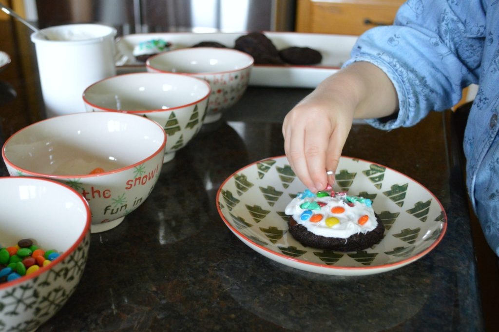 Cookie baking with a preschooler