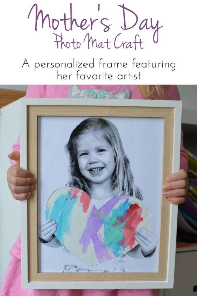 DIY Mother's Day Personalized Photo Gift: This personalized photo frame craft lets mom show off her favorite little artist's work in a one-of-a-kind frame
