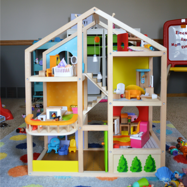 Hape Dollhouse perfect for preschoolers
