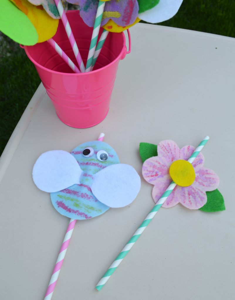 Easy DIY felt straw toppers