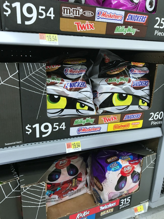 MARS Halloween Candy essentials at Walmart