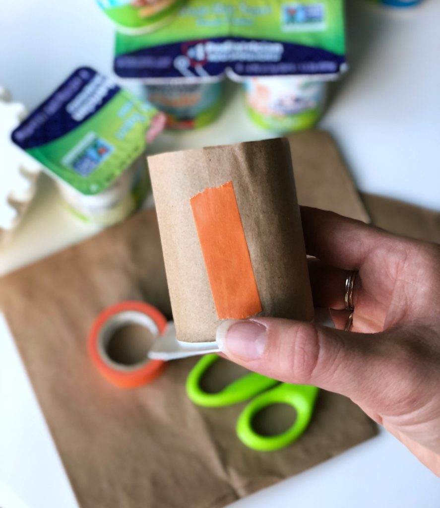 DIY Yogurt Cup Thanksgiving Turkey Craft