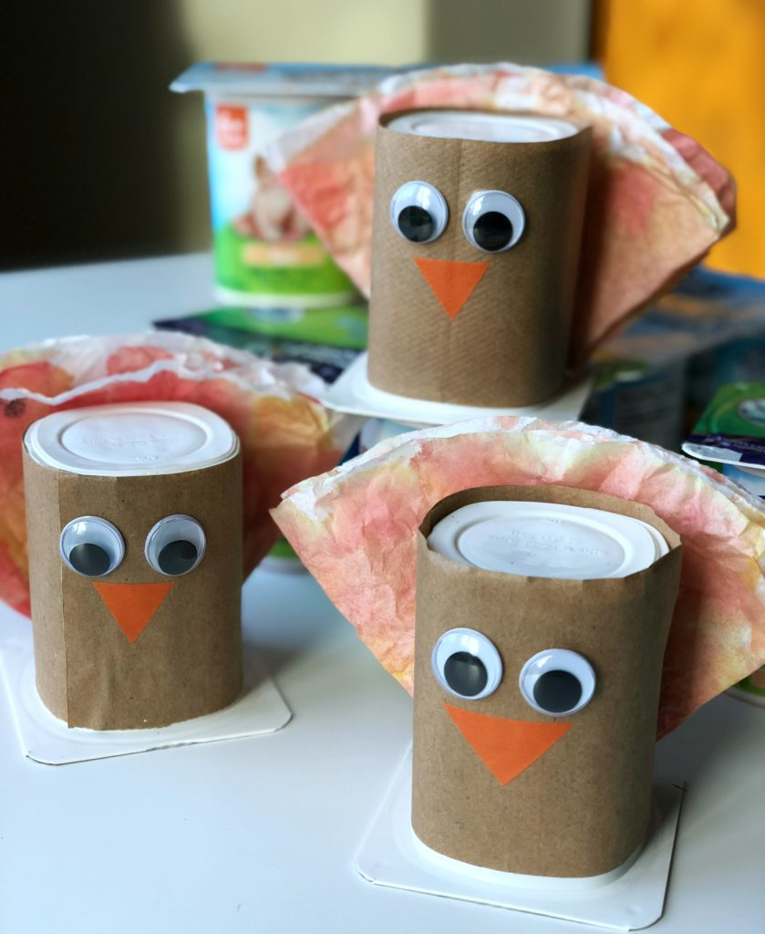 Yogurt Cup Turkey Craft