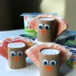 Simple Yogurt Cup Thanksgiving Turkey Craft