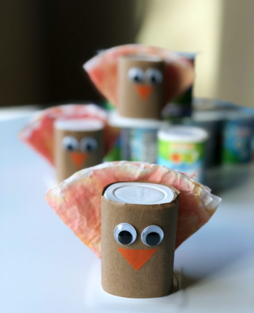 Fun Yogurt Cup Thanksgiving Turkey Craft