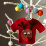 Ugly Christmas Sweater Ornament Felt Craft