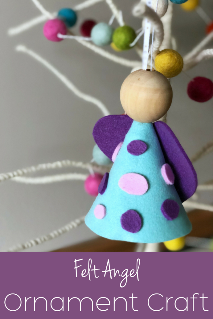This felt angel ornament craft is perfect for kids of all ages!