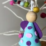 Simple felt angel ornament craft