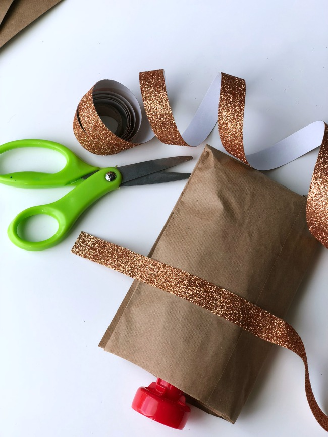 DIY yogurt pouch reindeer