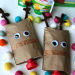 DIY Yogurt Pouch Reindeer Craft